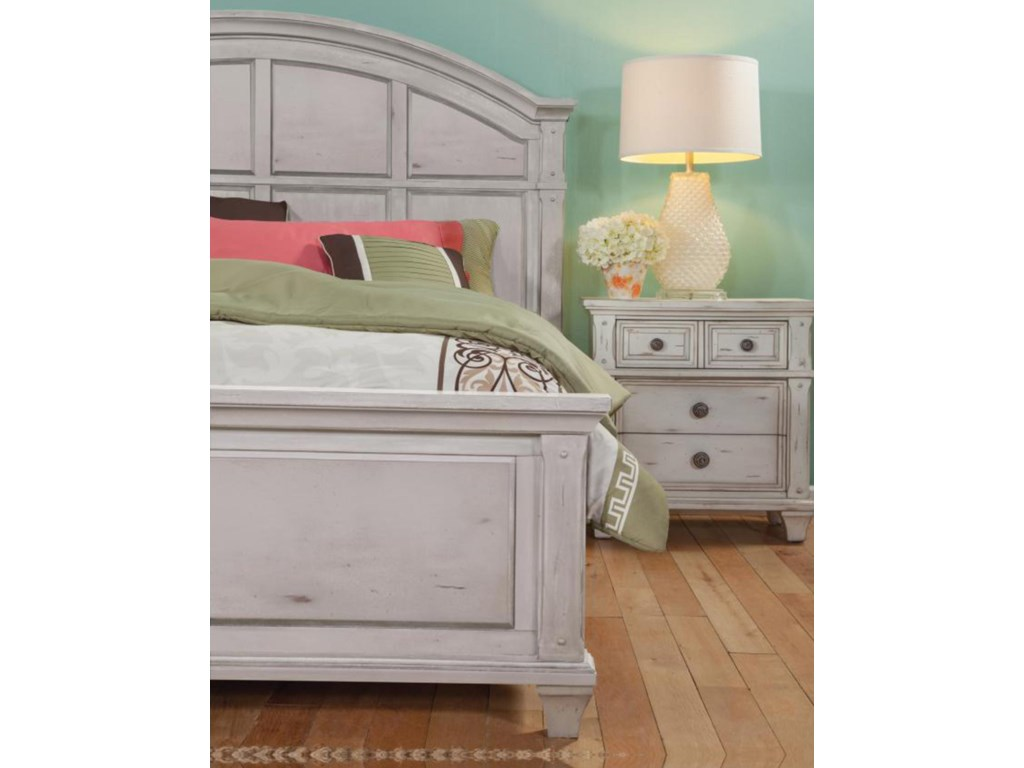 American Woodcrafters Sedona WhiteQueen Bedroom Group