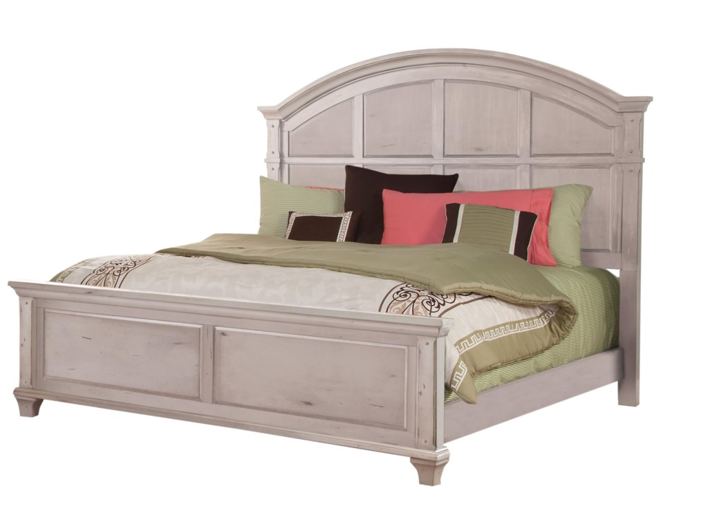 American Woodcrafters SedonaKing Panel Bed