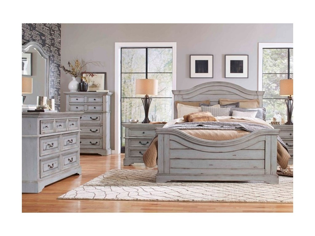 American Woodcrafters StonebrookKing Panel Bed