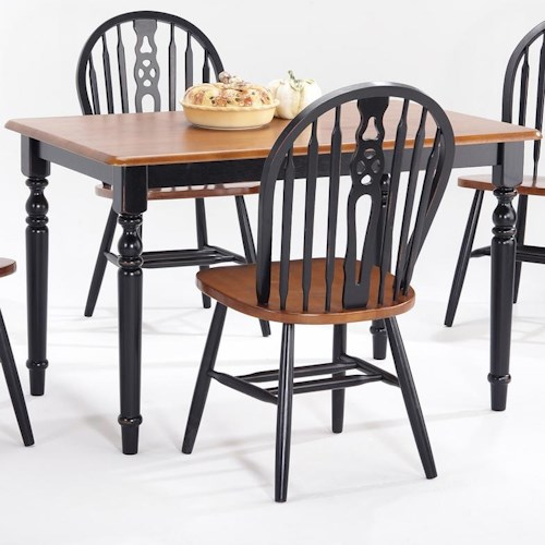 Amesbury Chair Creations II Rectangular Leg Table