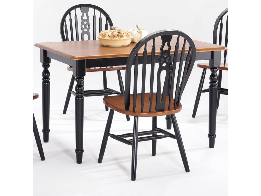Farmhouse and Traditional Windsor Rectangular Table