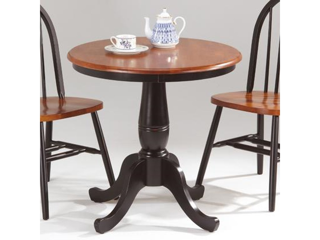 Amesbury Chair Farmhouse and Traditional WindsorRound Pedestal Table
