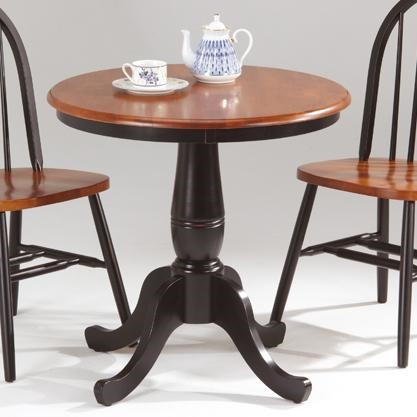 Amesbury Chair Farmhouse And Traditional WindsorRound Pedestal Table ...