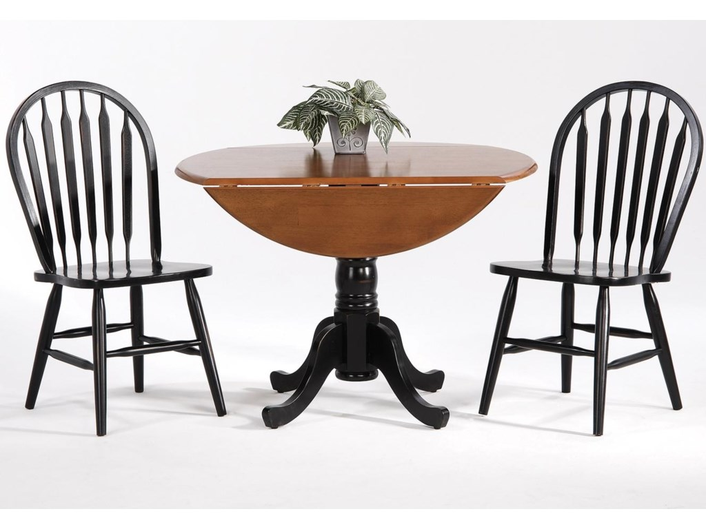 Amesbury Chair Farmhouse and Traditional Windsor Drop Leaf Table w ...