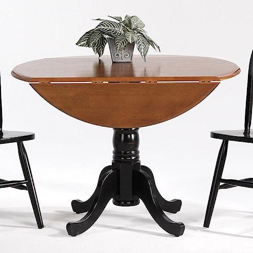 Amesbury Chair Creations II Drop Leaf Pedestal Round Table