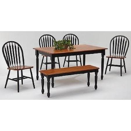 Rectangular Farmhouse table set