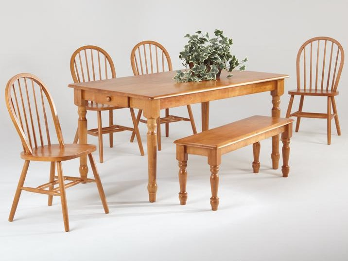 Amesbury Chair Farmhouse And Traditional Windsor Rectangular Table W - Rectangle table with 4 chairs
