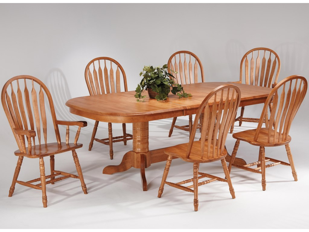 Amesbury Chair Farmhouse And Traditional Windsor Oval Table W 2 Arm Chairs 4 Side