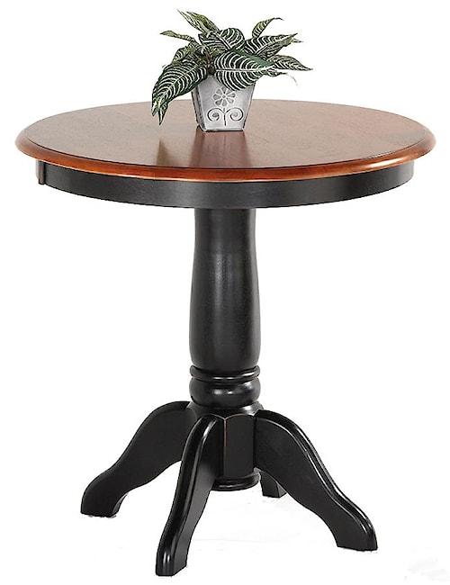 Amesbury Chair Pub Sets Pedestal Solid Hardwood Pub Table