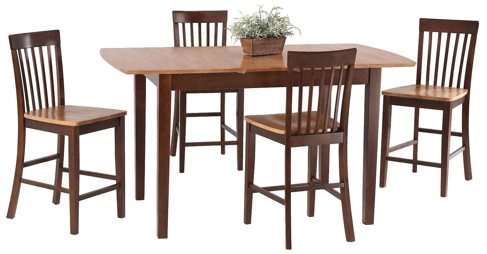 Amesbury Chair Pub Sets 5 Piece Butterfly Leaf Pub Table Set