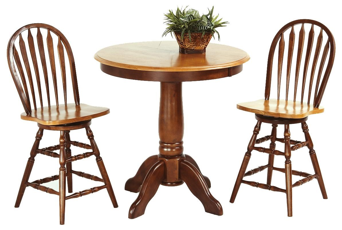 Amesbury Chair Pub Sets 3 Piece Solid Hardwood Pub Table U0026 Arrowback Stool  Set
