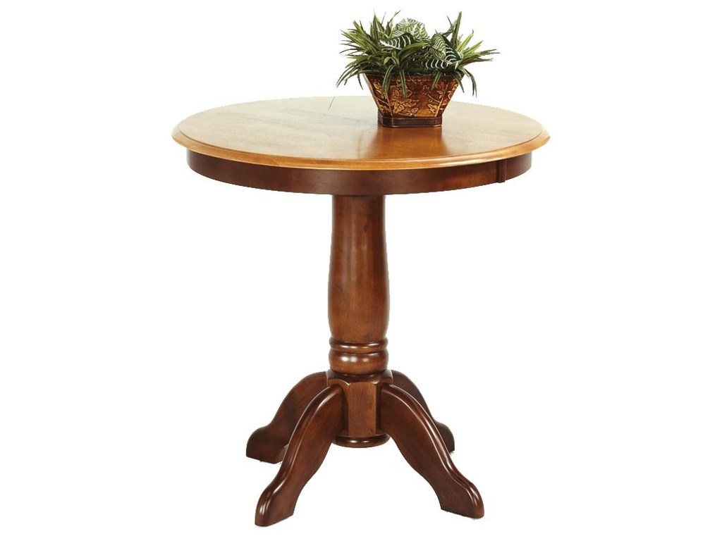 Amesbury Chair Pub Sets Pedestal Solid Hardwood Table