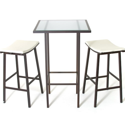 Amisco Aden Dinette Contemporary Bar Height Table and Stools
