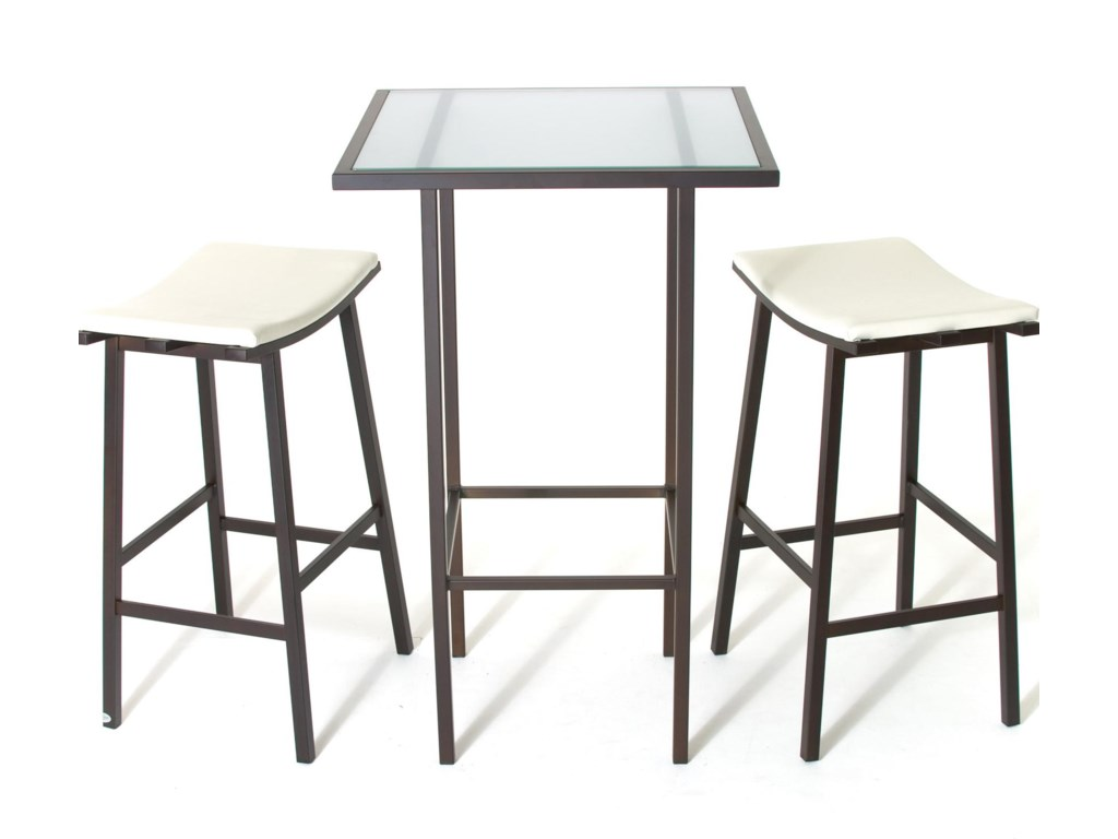 Contemporary bar height table - 2257 Aden Dinette Contemporary Bar Height Table And Stools Becker Furniture World Pub Table And Stool Sets