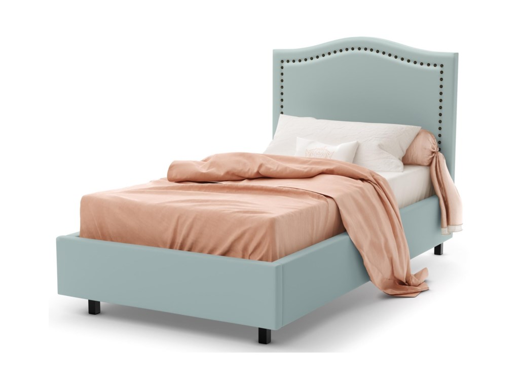 Amisco BoudoirTwin Elegance Upholstered Bed