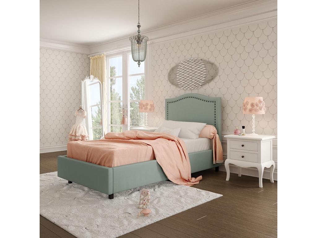 Amisco BoudoirTwin Elegance Storage Upholstered Bed