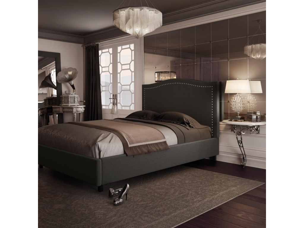 Amisco BoudoirKing Elegance Upholstered Bed