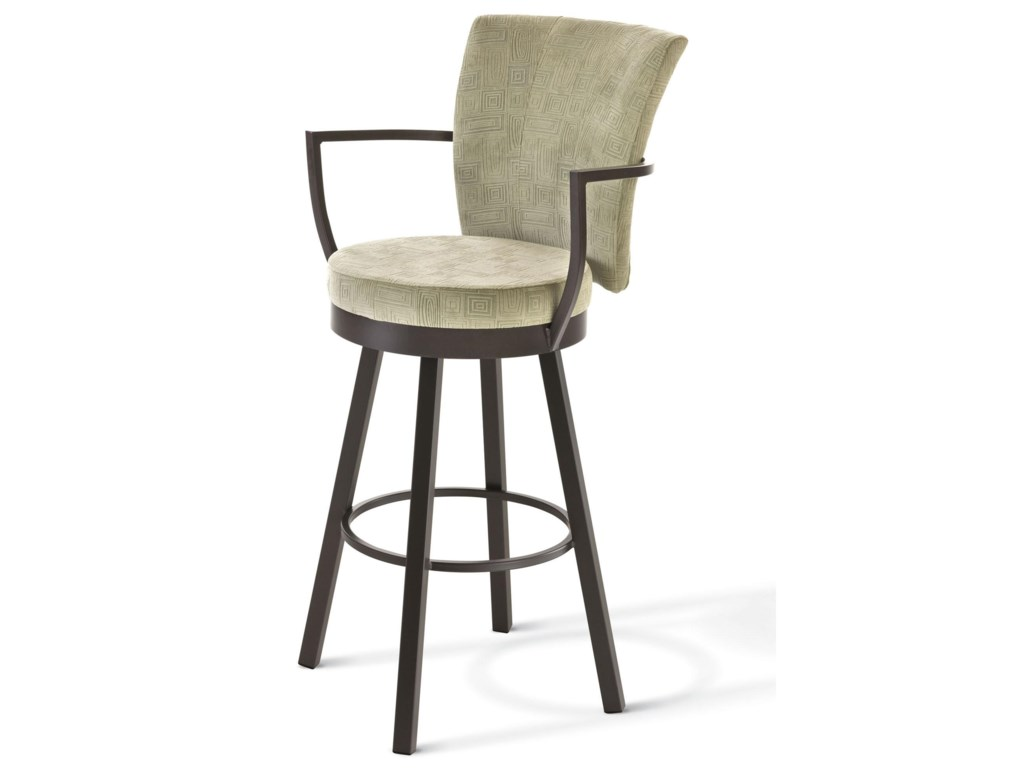 Amisco BoudoirSpectator Height Cardin Swivel Stool