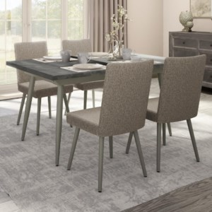 Amisco Boudoir 50514 56 90465 89 4x30330 56 Ht 5 Piece Belleville Extendable Table Set Upper Room Home Furnishings Dining 5 Piece Sets