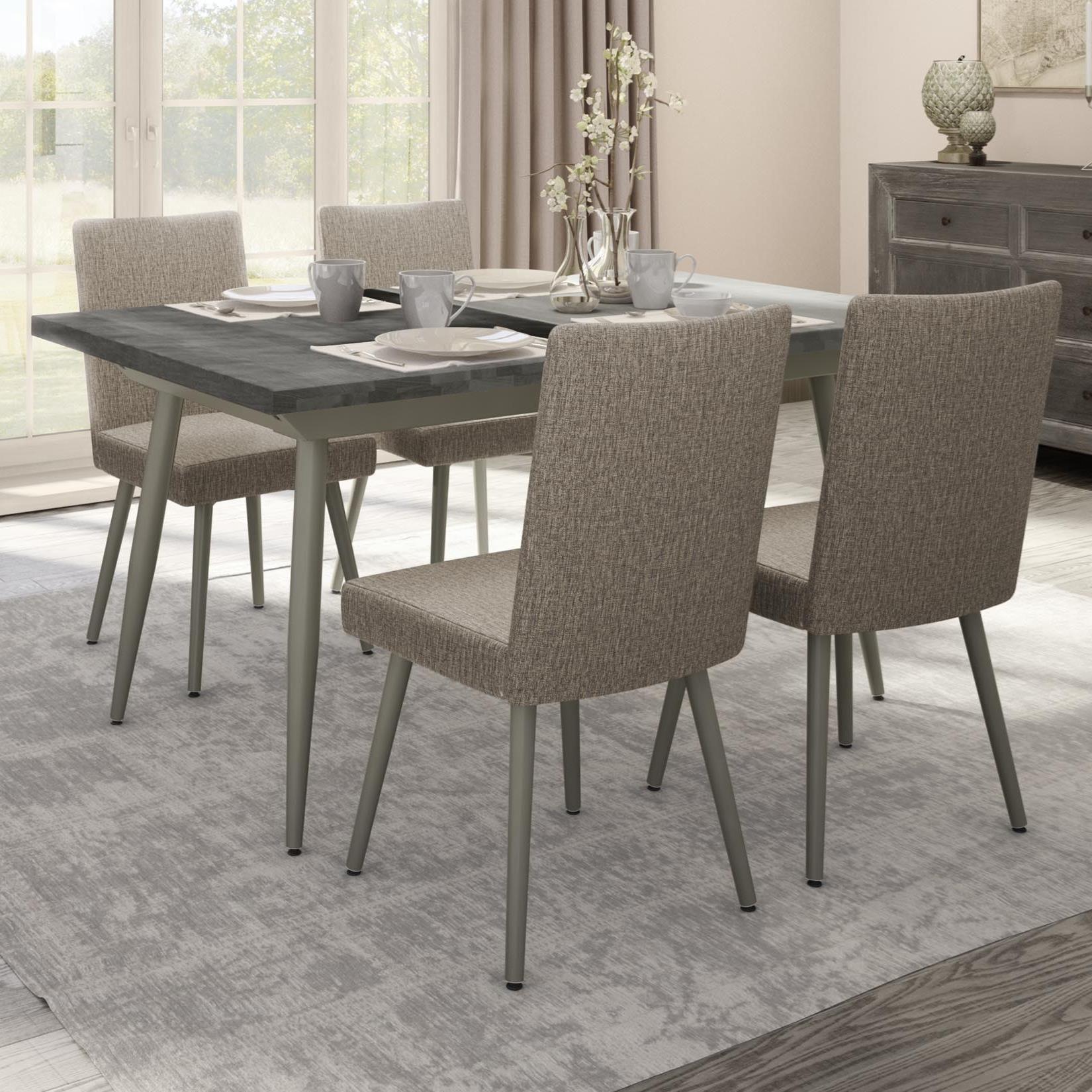 Charmant Amisco Boudoir 5 Piece Belleville Extendable Table Set