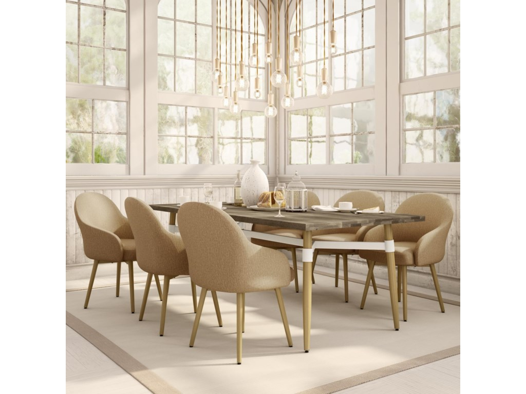 Amisco Boudoir7-Piece Link Dining Table Set