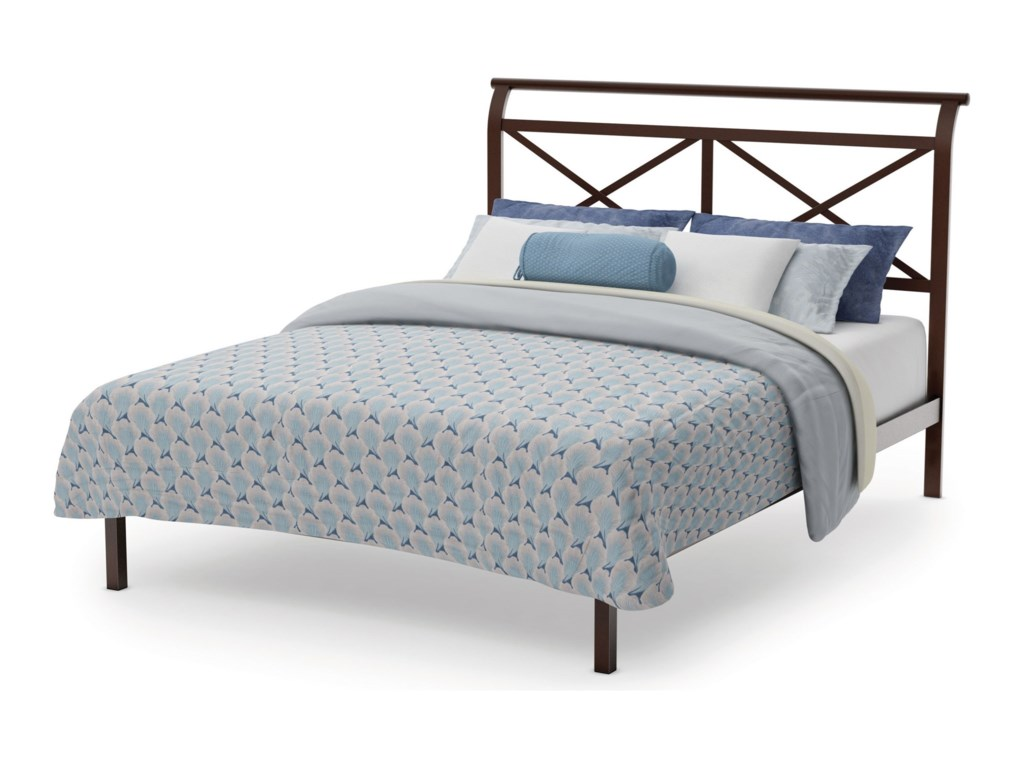 Amisco CountrysideKing Gabriel Platform Footboard Bed