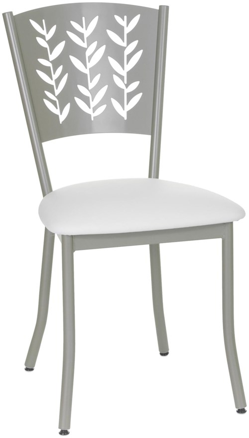 Amisco Countryside Mimosa Decorative Side Chair with Garden Leaf Motif