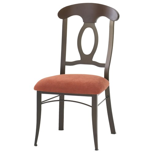Amisco Countryside Cynthia Dining Room Side Chair with Cottage Styled Splat Back