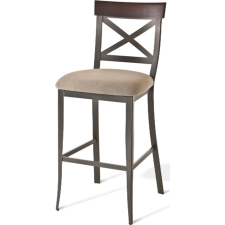 "30"" Kyle Bar Stool with Upholstered Seat"