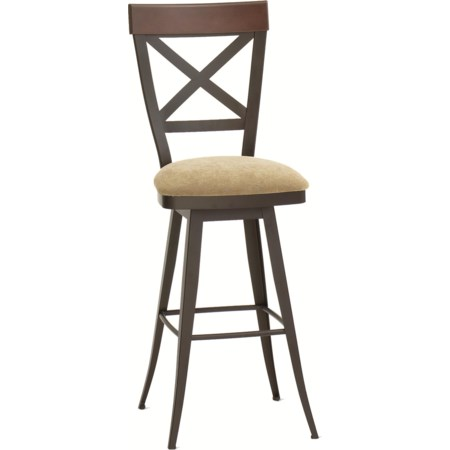 "34"" Spectator Height Kyle Swivel Stool"