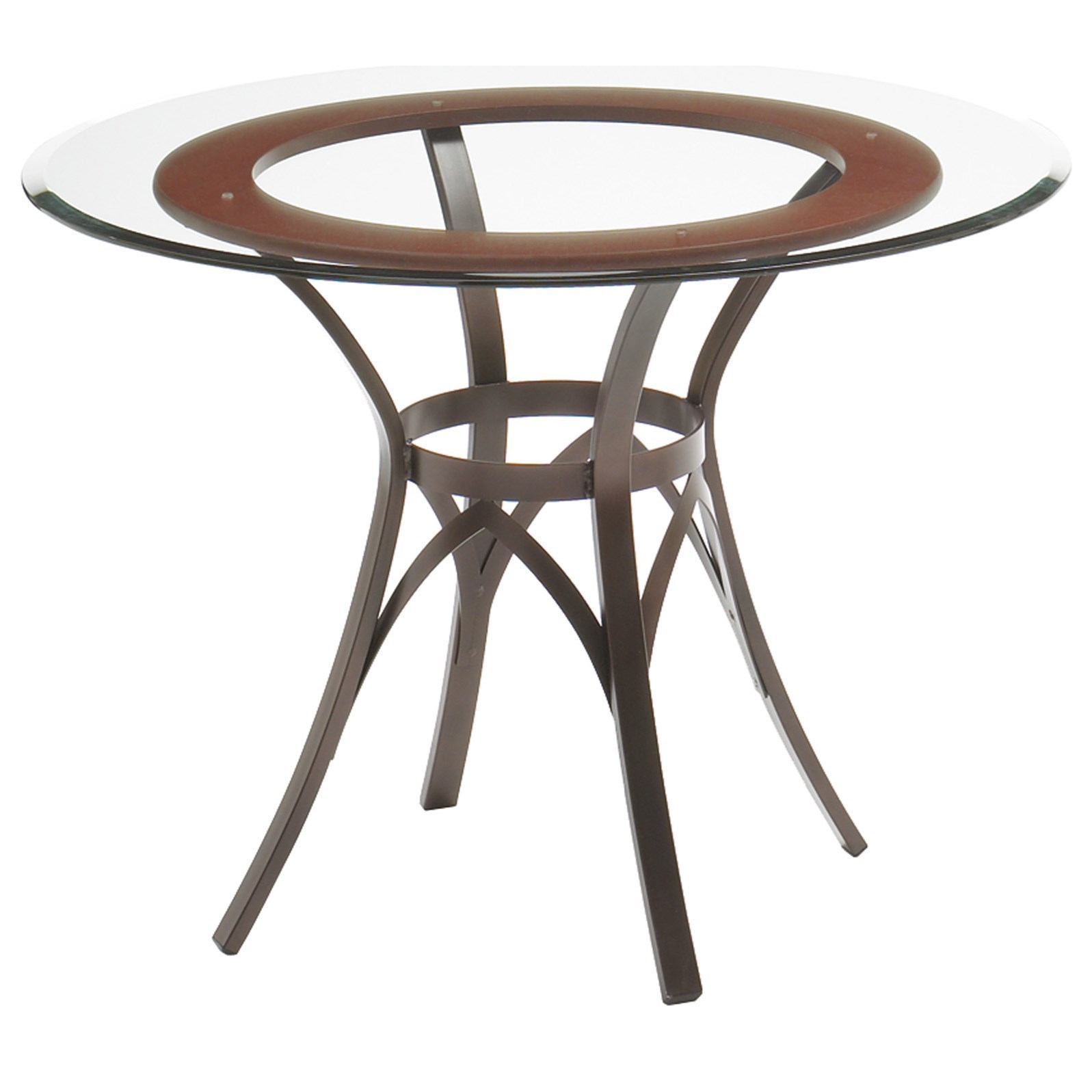 Customizable Kai Table w/ Wood Ring Insert and Glass Top