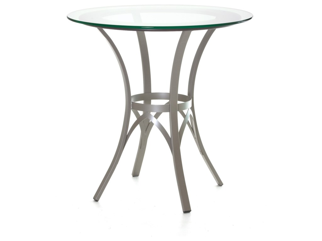 Amisco CountrysideKai Counter Table w/ Wood Ring & Glass Top