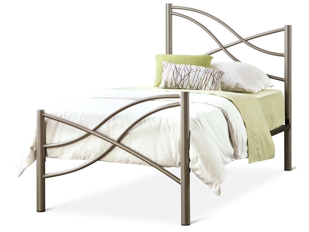Amisco Eco Twin Nina Bed With Organic Metal Headboard And Footboard