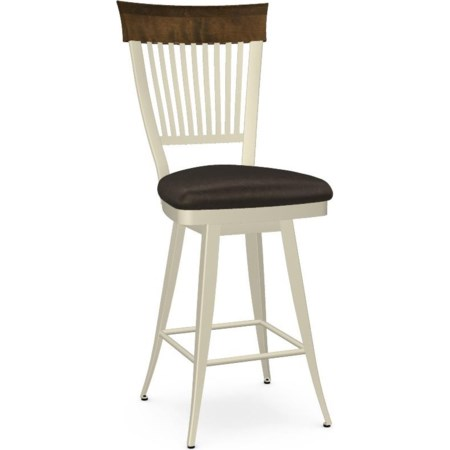 Customizable Annabelle Swivel Counter Stool