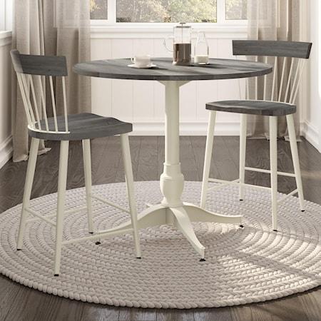 Customizable 3-Piece Counter Pub Table Set
