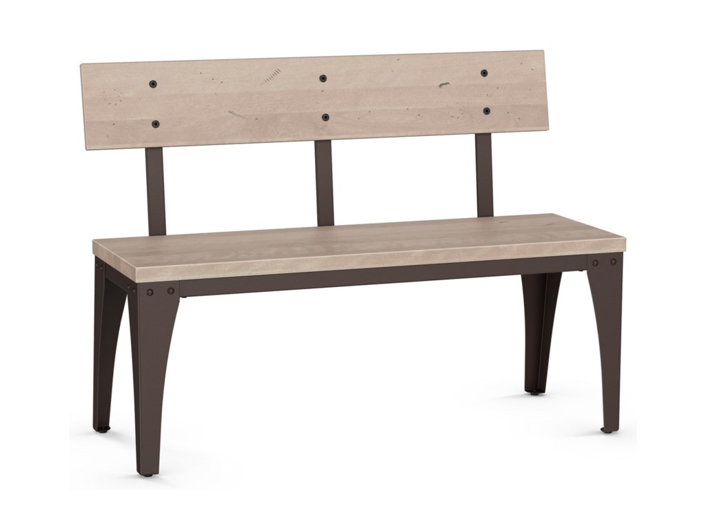 Amisco IndustrialArchitect Bench with Wood Seat