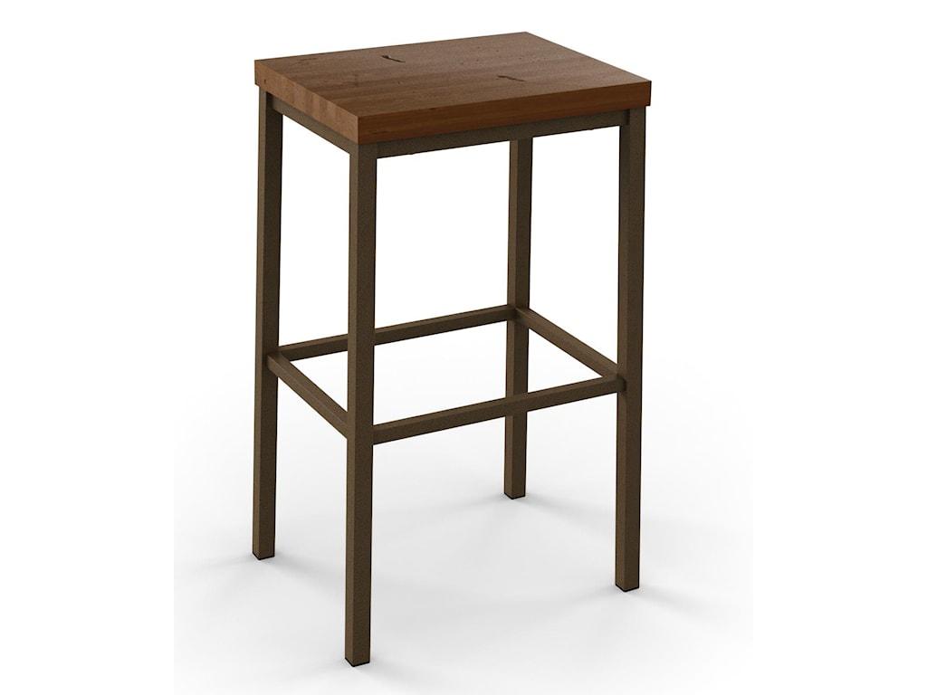 Amisco industrialbradley non swivel counter height stool
