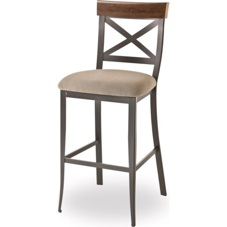"26"" Kyle Stool with Upholstered Seat"