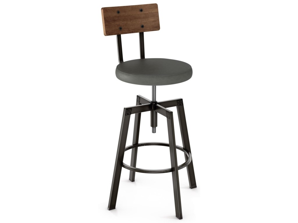 Amisco IndustrialArchitect Stool with Upholstered Seat
