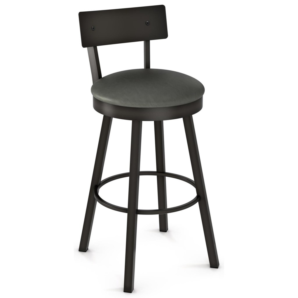 Amisco Industrial 26 Lauren Swivel Counter Stool With Cushioned