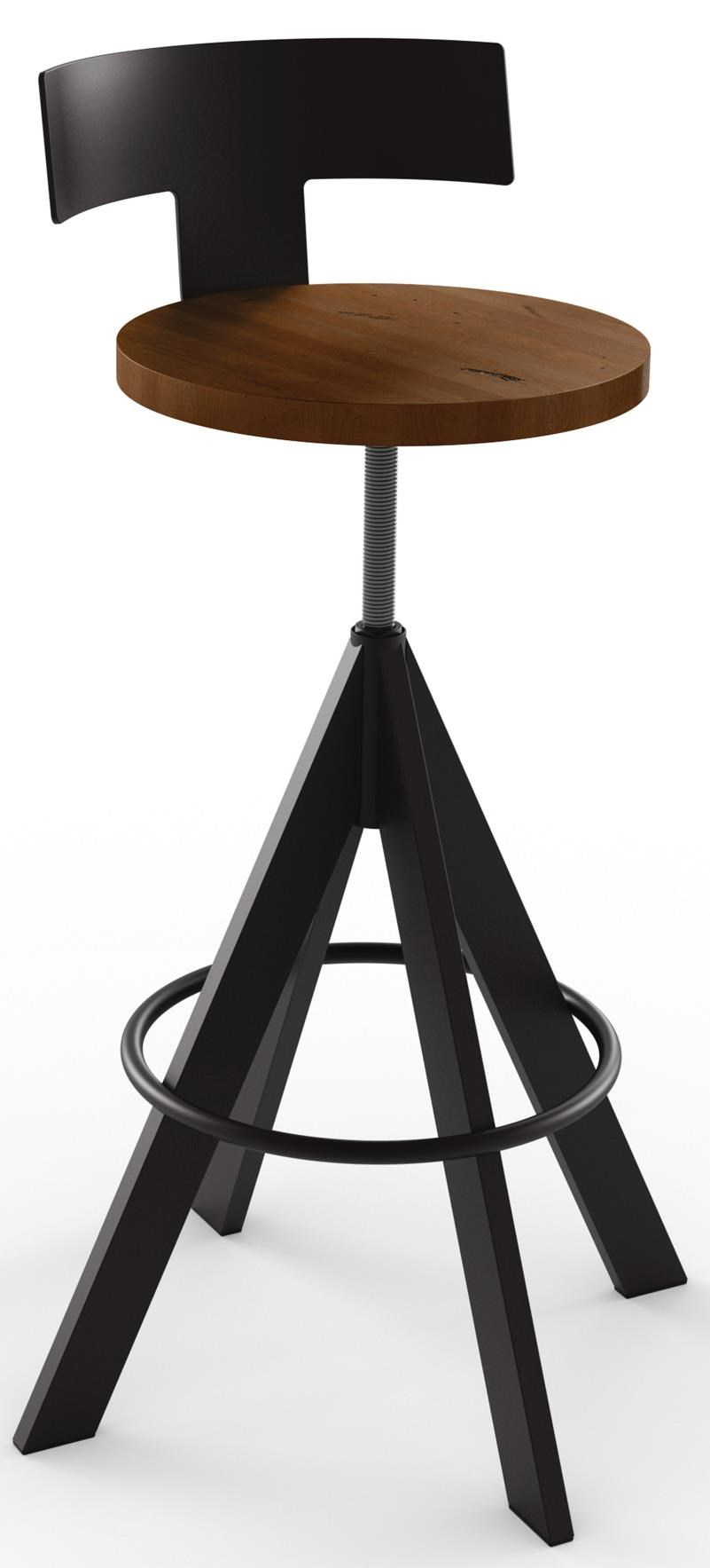 Amisco IndustrialUplift Adjustable Height Stool ...