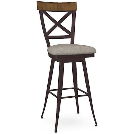 Customizable Kyle Swivel Bar Stool