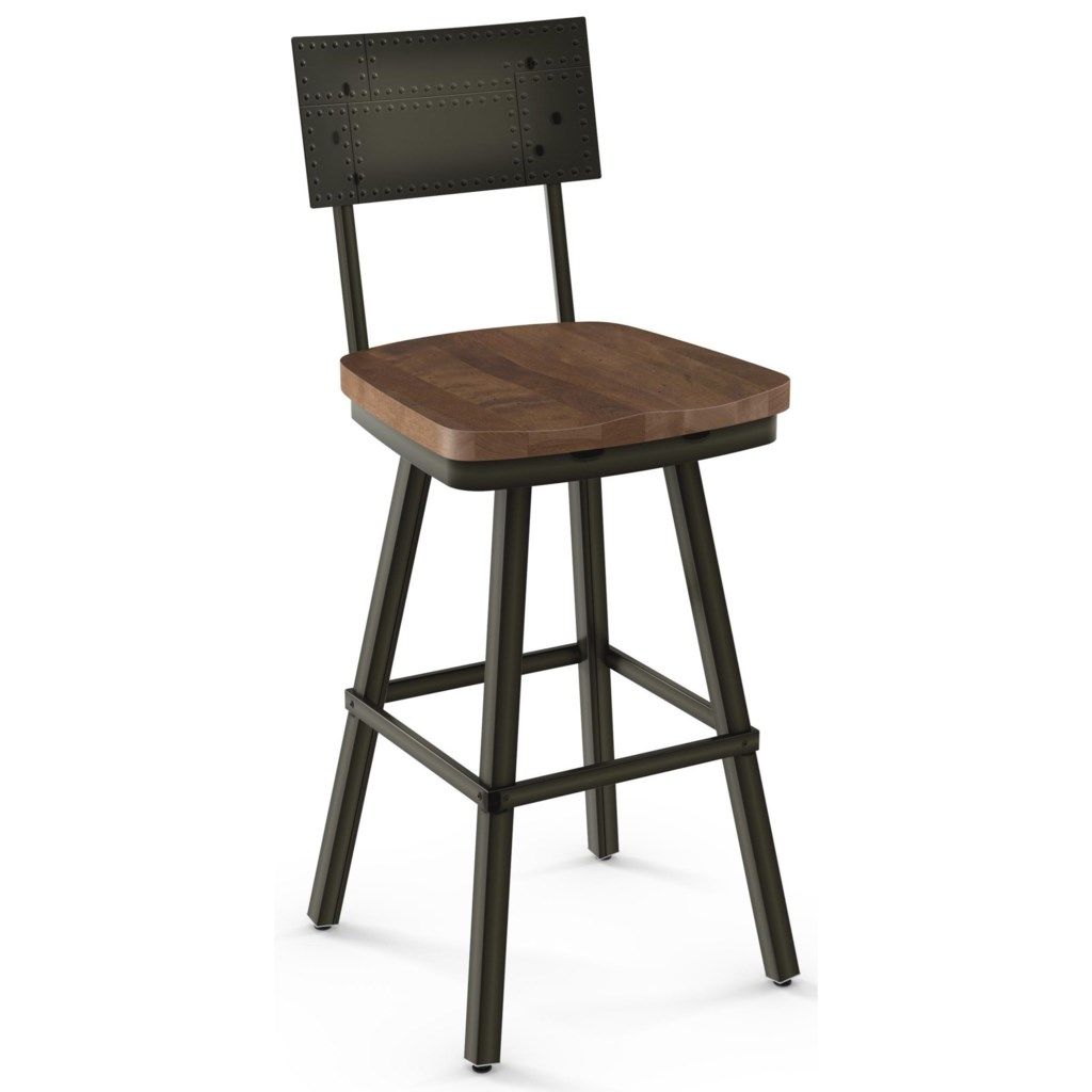 Amisco Industrial 30 Bar Height Jetson Swivel Stool Rooms And