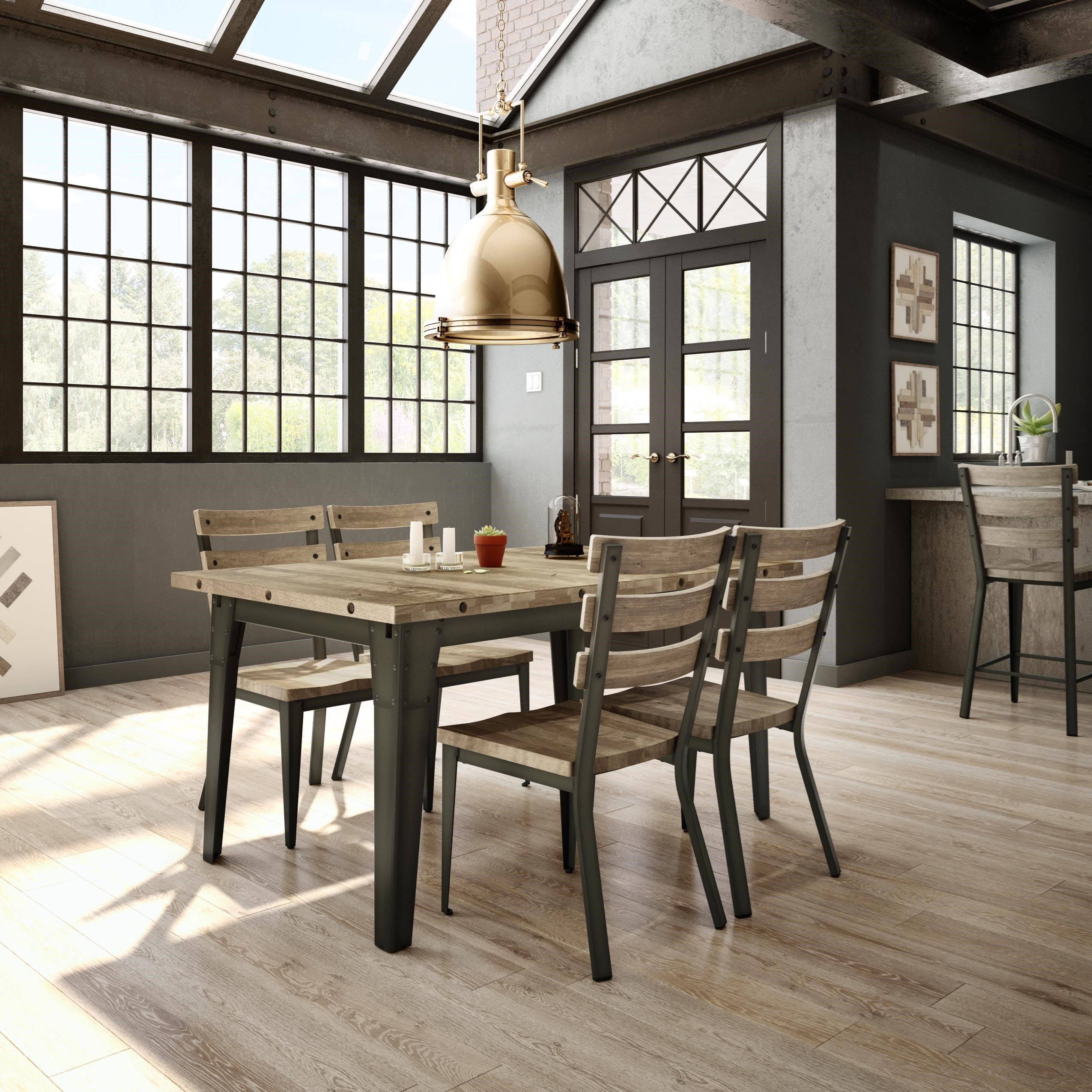 industrial tacoma extendable table by amisco