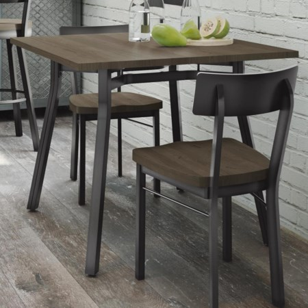 Moris Table with Distressed Solid Birch Top