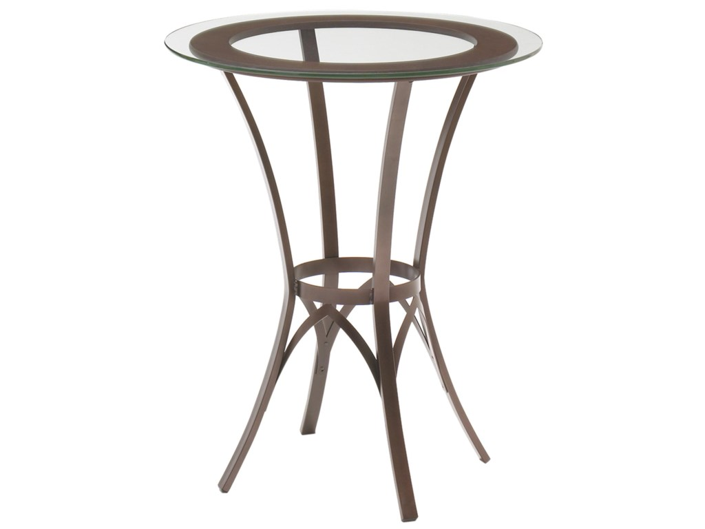 Amisco kai dinette round bar height pub table with glass top and amisco kai dinette round bar height pub table with glass top and interlaced metal base watchthetrailerfo