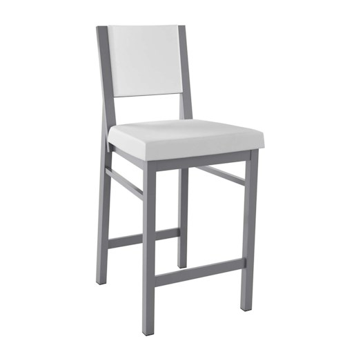 Amisco Stools Contemporary Payton Bar Stool with Upholstered Seat