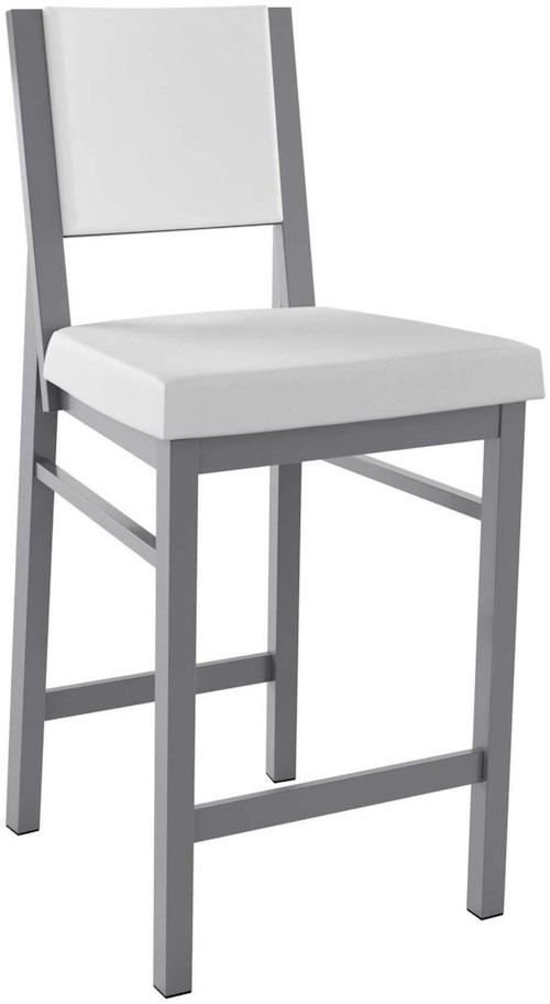 Amisco Stools Contemporary Payton Counter Stool with Upholstered Seat
