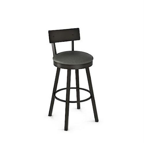Amisco Stools Lauren Swivel Bar Stool with Cushioned Seat