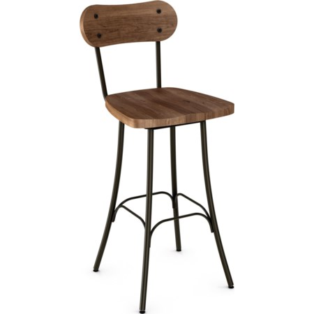"Bean 26"" Swivel Barstool"